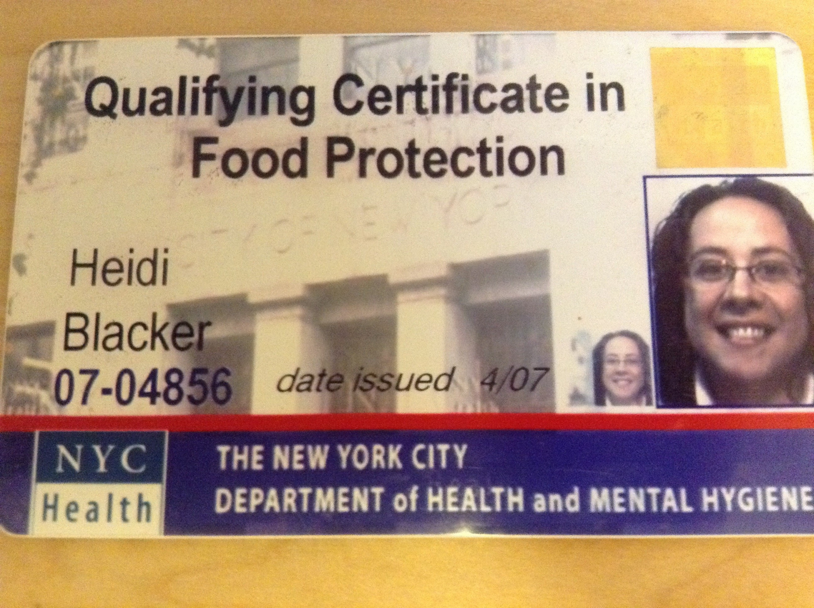 Nyc Food Protection Certificate Expiration